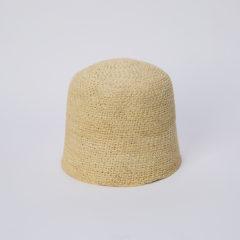 パナマ縄撚り鈎編みフード